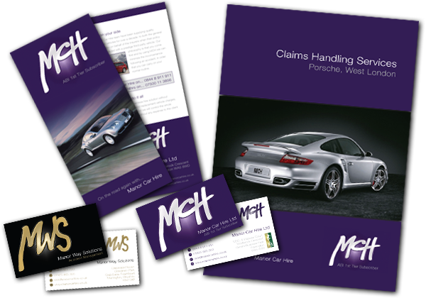 Manor Car Hire & Manor Way Solutions printed materials