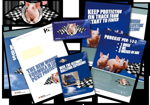 Pig Vaccine Launch - UK printed materials